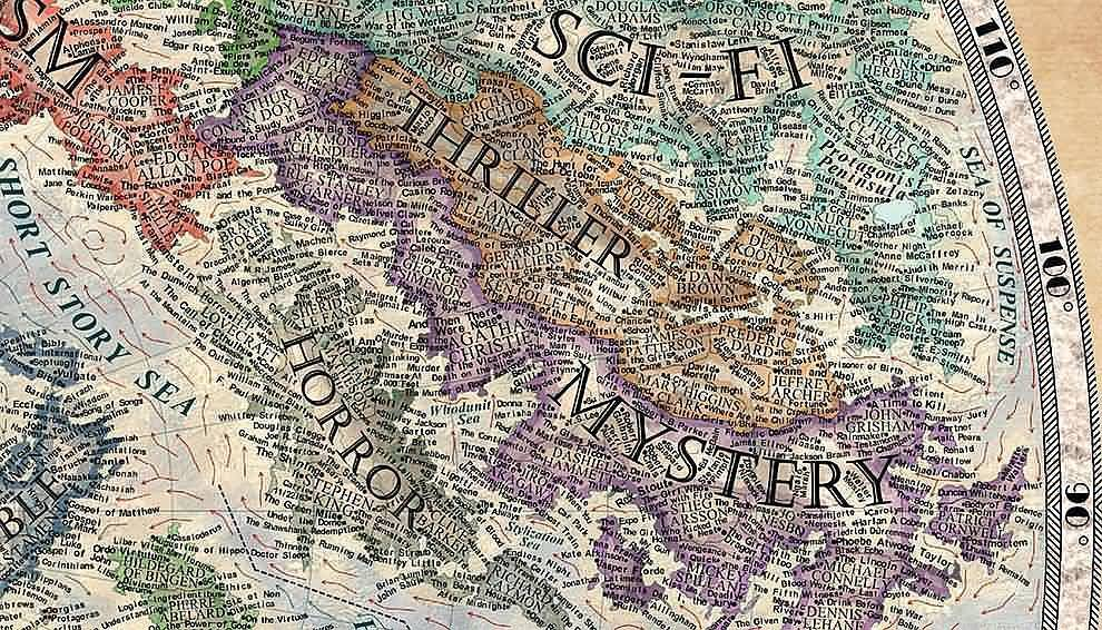Horror Map (famous writers)