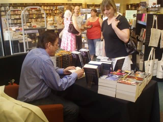 Waterstones signing, May 2008