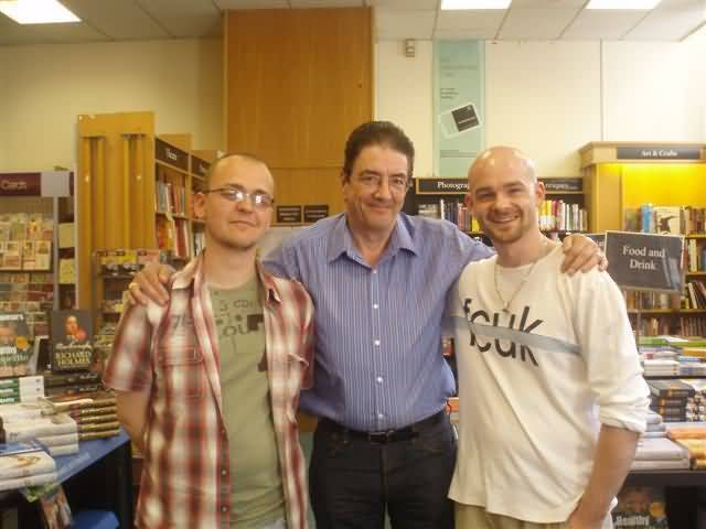 Graham with Mark and Adam at Waterstones, May 2008