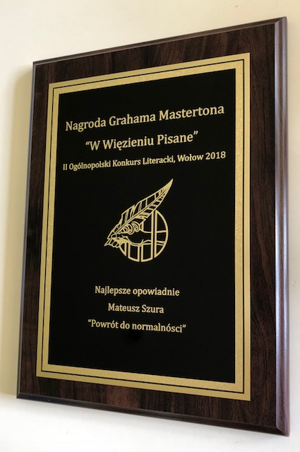 Winners plaque
